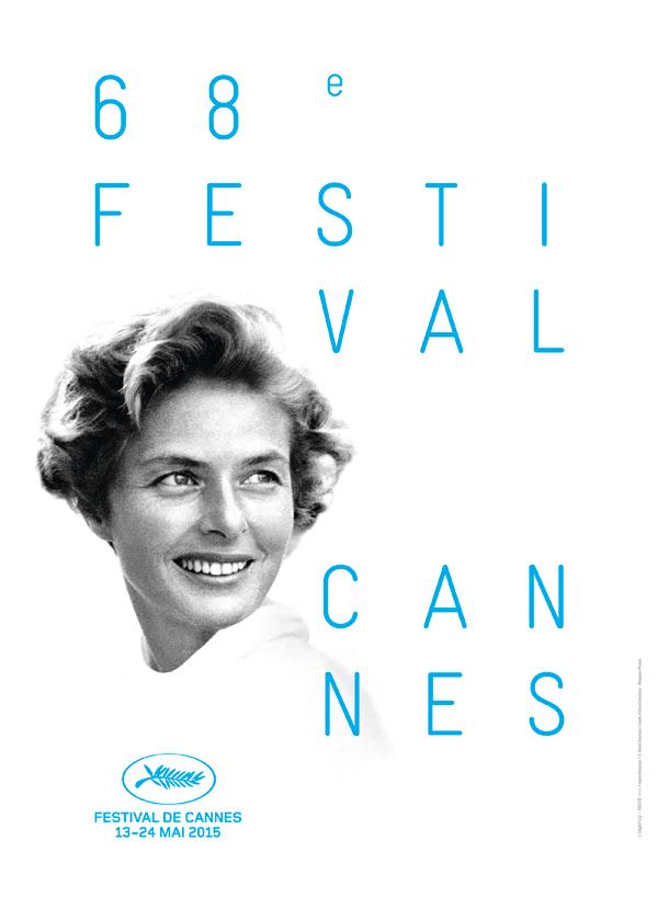 Pôster oficial do 68º Festival de Cannes, estrelado por Ingrid Bergman