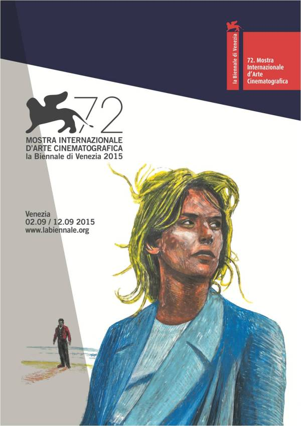 Pôster do 72º Festival de Veneza com Nastassja Kinski e Jean-Pierre Léaud.