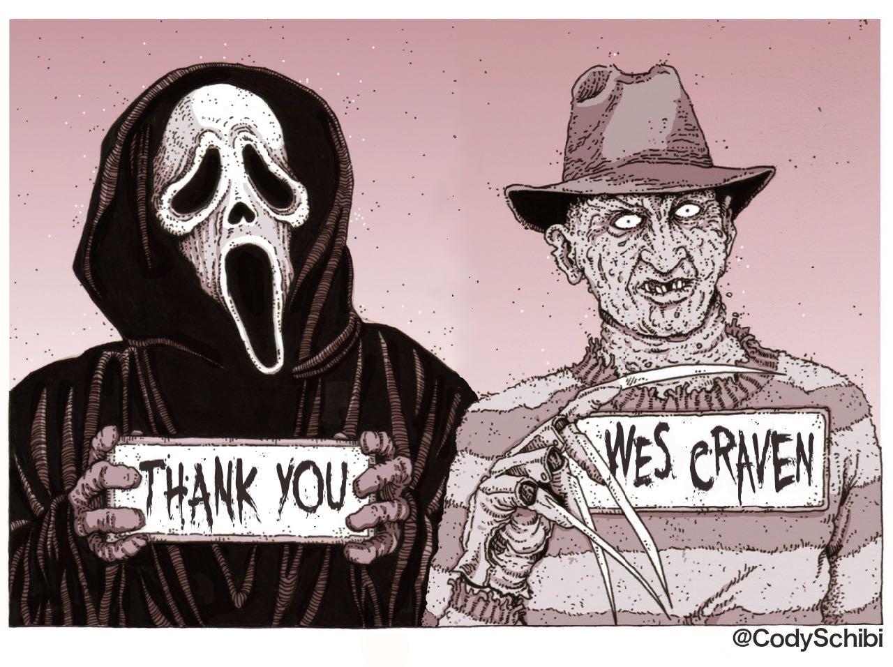 Ghostface e Freddy Kruger em homenagem de Cody Schibi (photo by codyschibi.com)