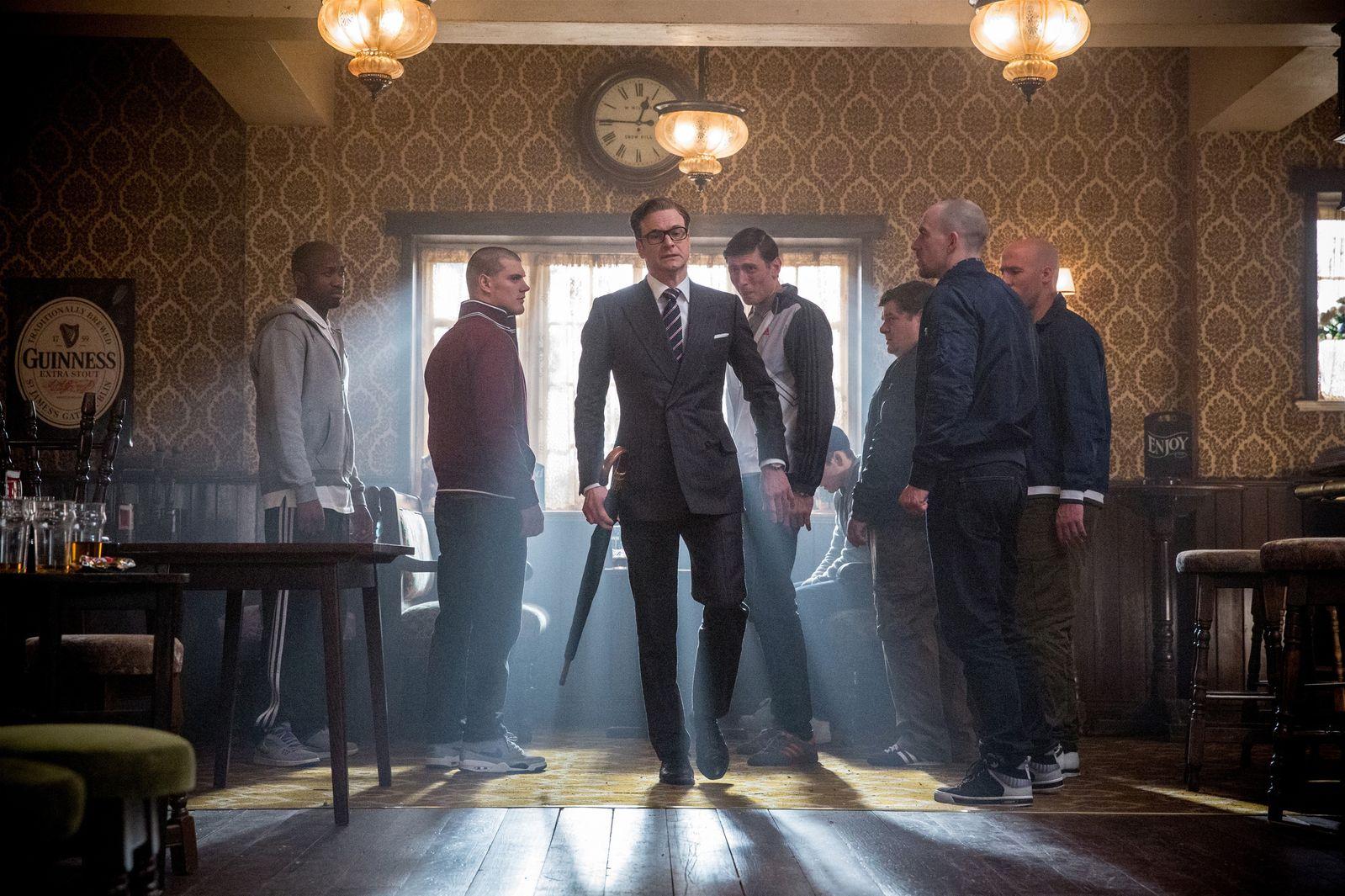 Colin Firth em cena de Kingsman: Agente Secreto (photo by cinemagia.ro)