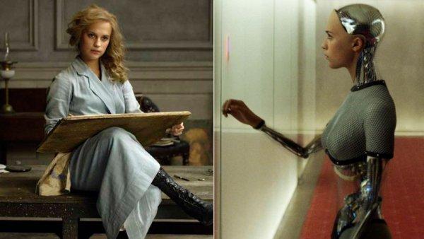 Alicia Vikander foi indicada por dois trabalhos: A Garota Dinamarquesa e Ex-Machina: Instinto Artificial (photo by hollywoodreporter.com)