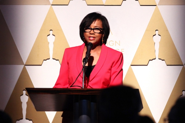 A presidente da Academia, Cheryl Boone Isaacs (Photo by Tommaso Boddi/Getty Images)