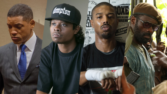 Da esquerda para direita: Will Smith, O'Shea Jackson Jr., Michael B. Jordan e Idris Elba (photo by Variety)
