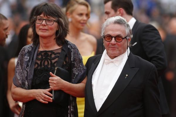 A editora sul-africana Margaret Sixel ao lado de seu marido George Miller na premiere em Cannes de 2015 (photo by thefilmfatale.me)