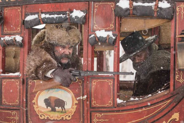 KURT RUSSELL and SAMUEL L. JACKSON star in THE HATEFUL EIGHT