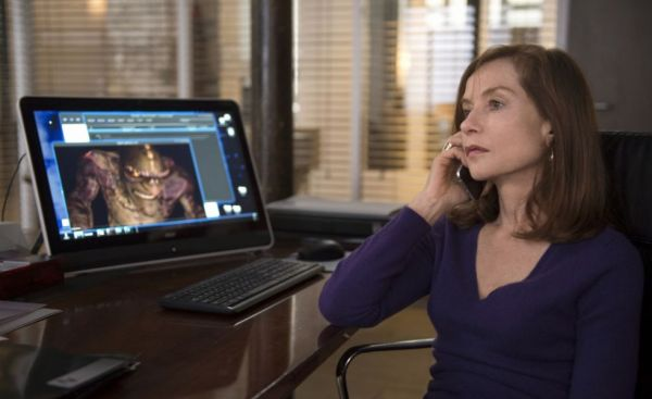 Isabelle Huppert em cena de Elle, de Paul Verhoeven (photo by cine.gr)