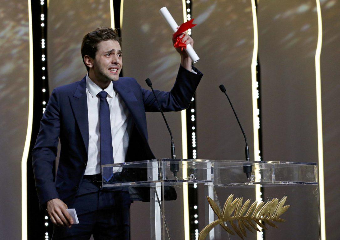 O jovem canadense Xavier Dolan (27) ganha seu prêmio mais importante em Cannes, o Grande Prêmio do Júri, por Juste la fin du monde (photo by thestar.com)
