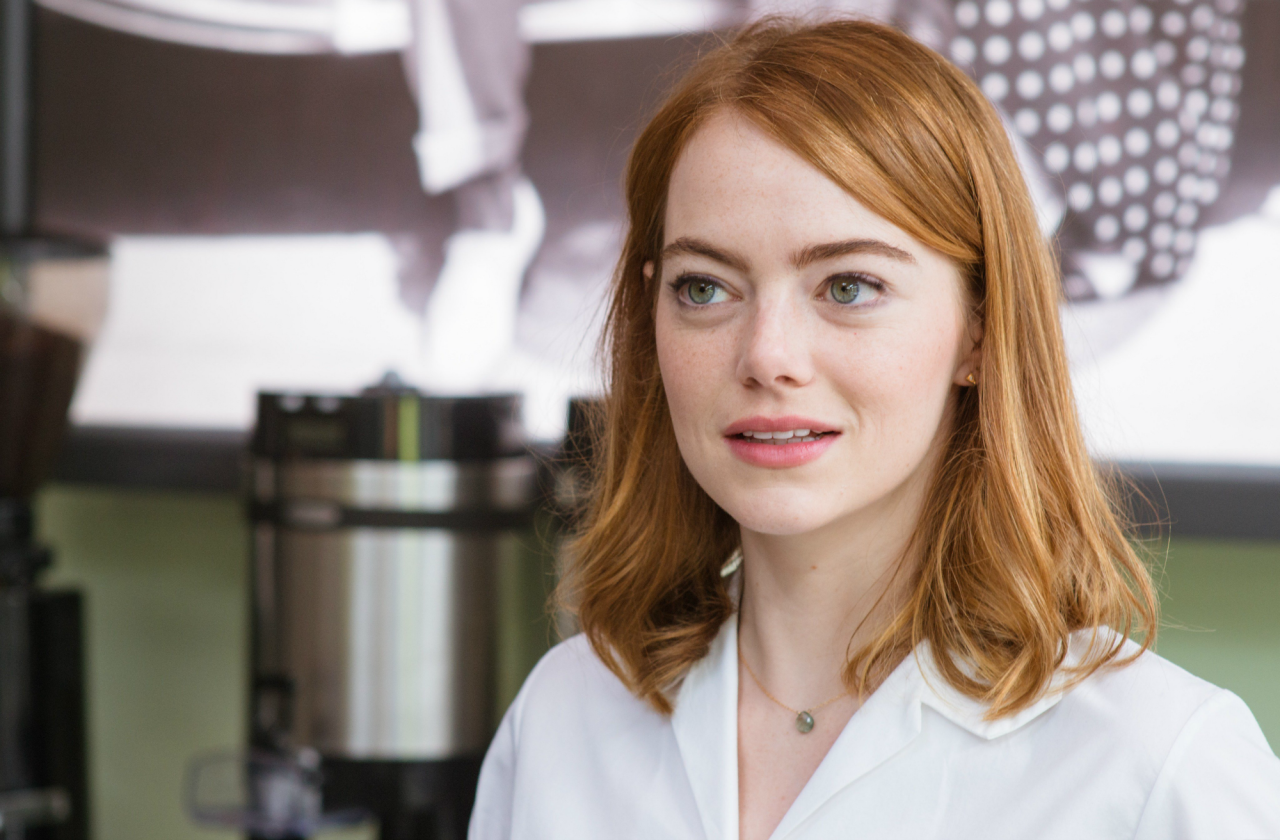 Emma Stone em cena do musical La La Land: Cantando Estações (photo by tumblr.com)
