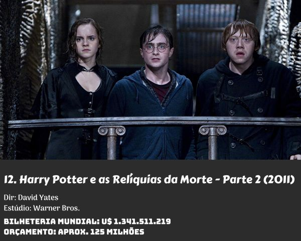 12. Harry Potter and the Deathly Hallows part 2