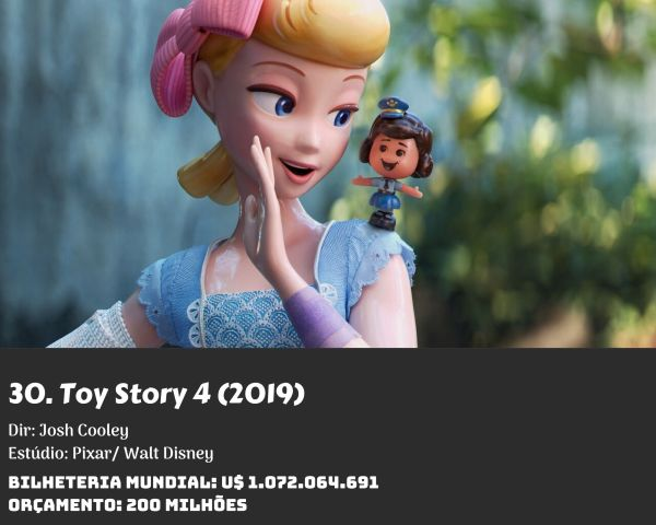 30. Toy Story 4