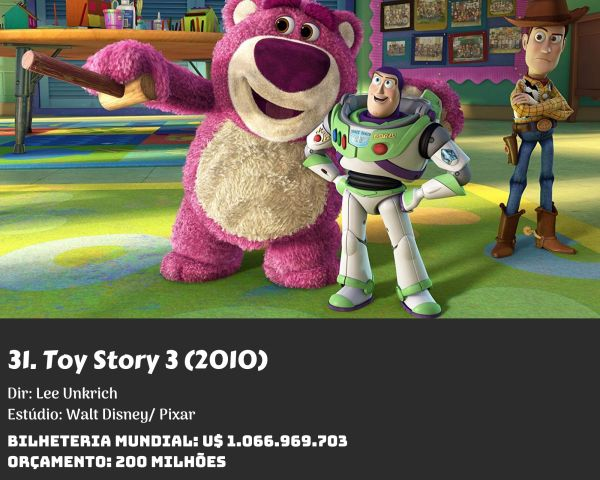 31. Toy Story 3