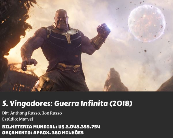 5. Avengers Infinity War